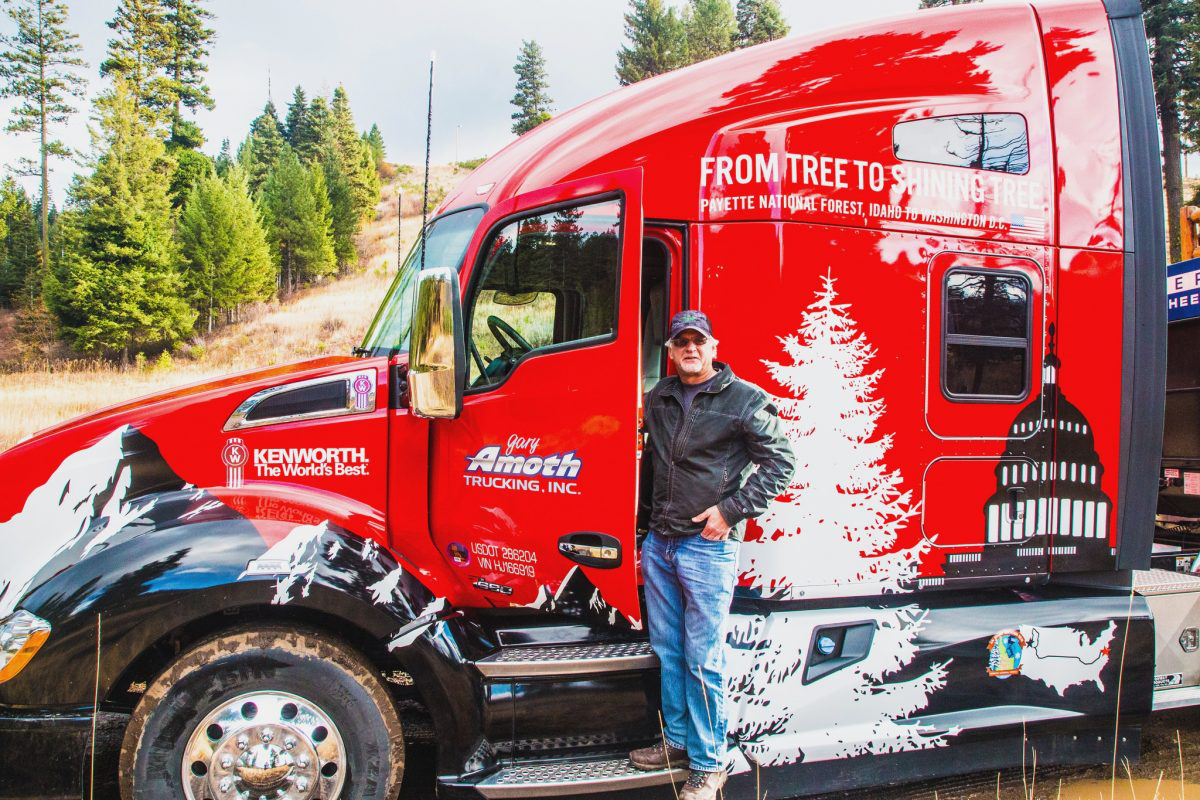 Trucker hauling Capitol Christmas Tree calls cross-country trip the 'haul of a lifetime'