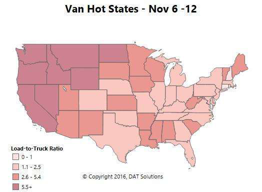 Fall freight season spreading out beyond Thanksgiving? Spot market update illustrates e-commerce trends