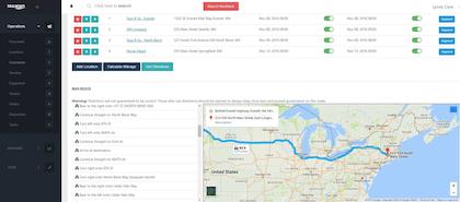 Web-based small fleet, broker TMS software