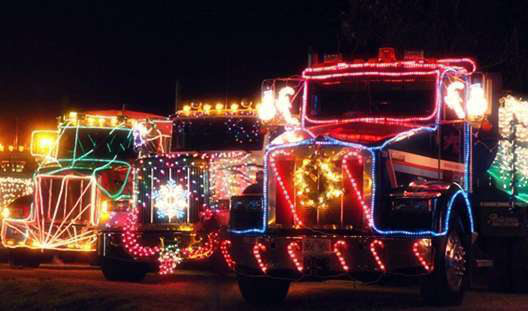 Head west for Christmas truck parades