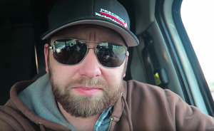 Trucker's popular video blog includes four-legged co-star