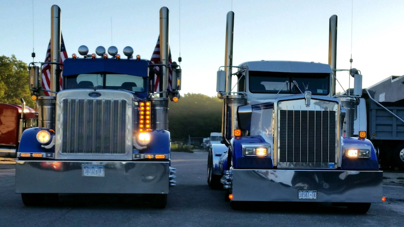 Drop Visor For Freightliner Cascadia >> Robert Pandullo's '05 Pete 379 and '94 Kenworth W900L | Overdrive - Owner Operators Trucking ...
