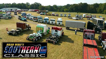 "A scenes from the Southern Classic, held in early September on the grounds of Wike's home base, also the headquarters for his BPW (""Best Possible Way"") Transport small fleet."