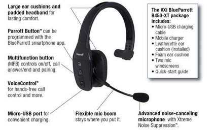 c99cda46000 VXI BlueParrot's Bluetooth headset for drivers