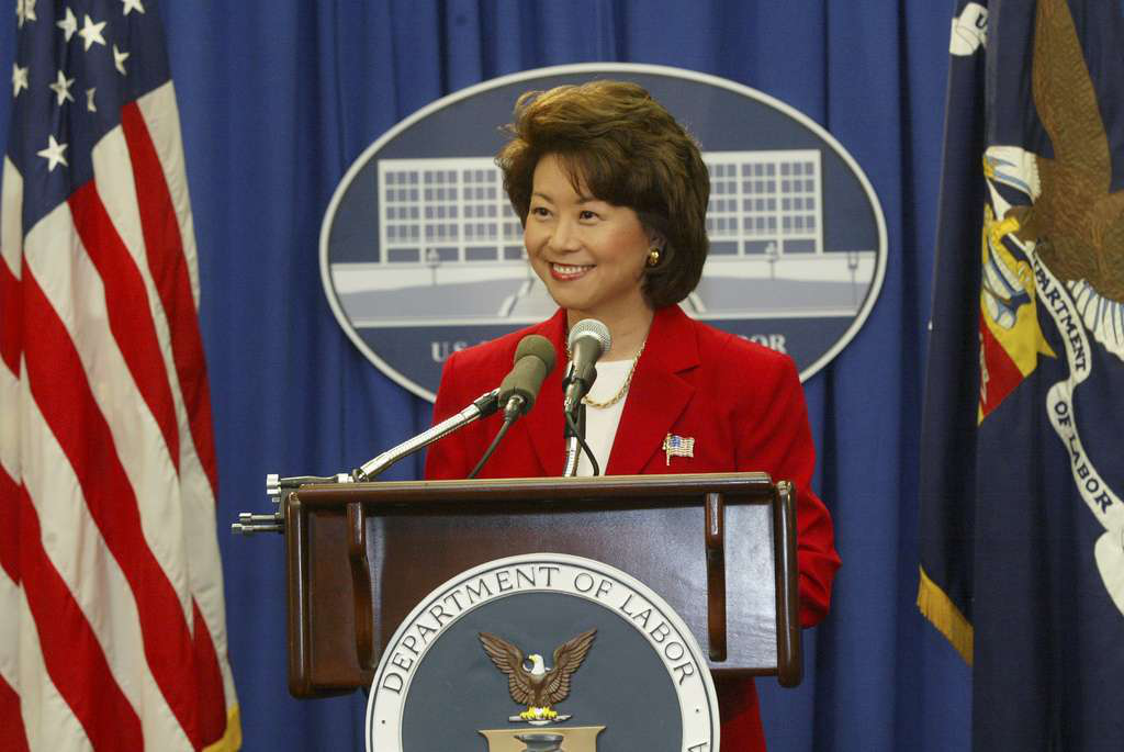 Elaine Chao headed the Department of Labor between 2001 and 2009. She's been nominated by President-elect Donald Trump to run the DOT during his presidency.