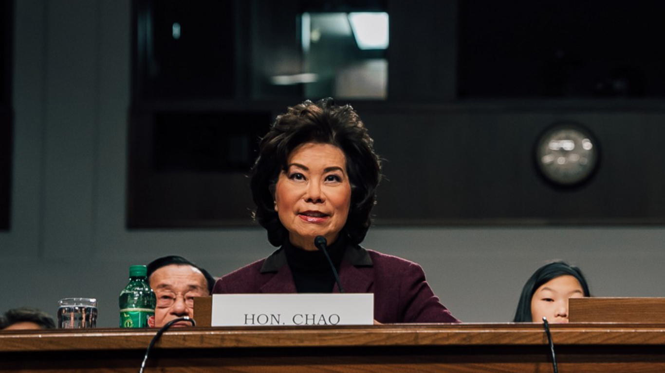 Chao approved by Senate committee to run DOT, nomination moves to full Senate