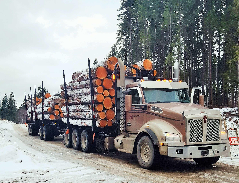 Hauling logs in British Columbia