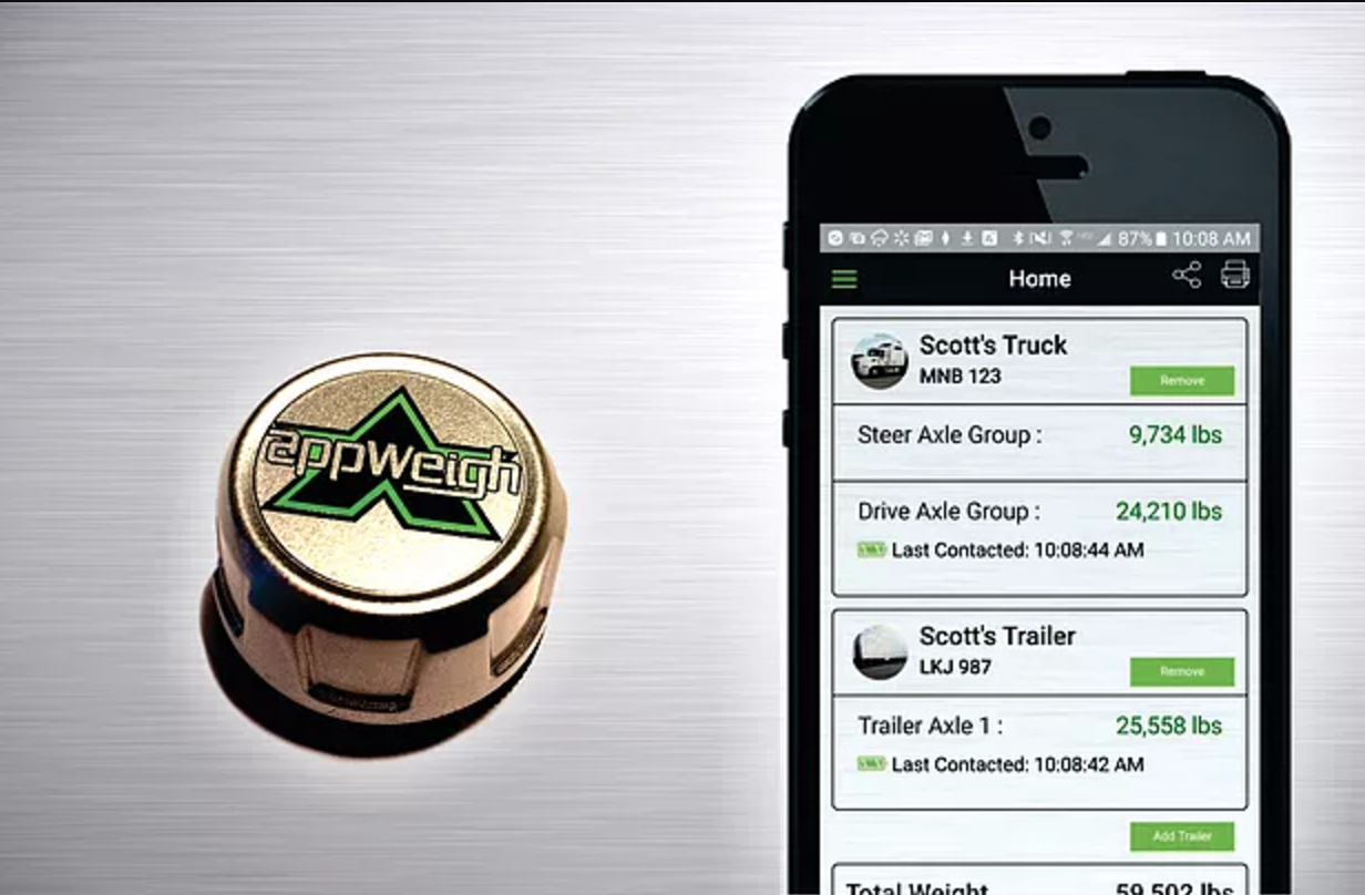 AppWeigh Bluetooth scale sensors allow scale-free truck weighing