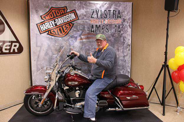 Driver wins Harley for receiving company award