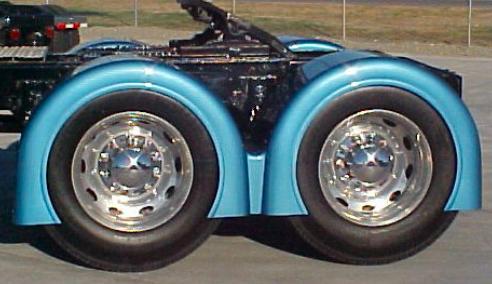 Fibertech's double hump rear fenders