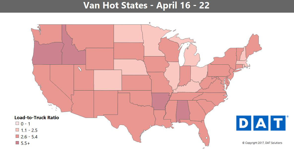 Loose capacity a 'speed limiter' on rising rates in van freight