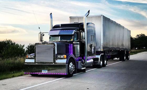 Custom rigs overdrive owner operators trucking magazine for Wood floor for 379 peterbilt