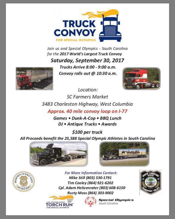 S C World S Largest Truck Convoy Set For Sept 30