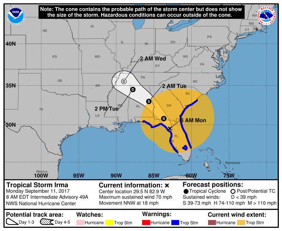 I95 Map Florida.Irma Flooding Closes Portions Of I 10 I 95 In Florida