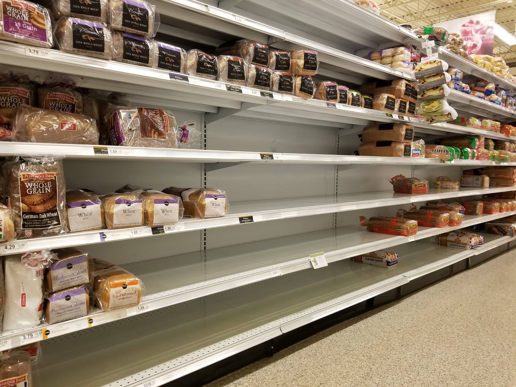 Like George And I Chris Had Seen Several Posts On Social Media About Empty Shelves Wondered If They Were Truly Representative Of The Situation