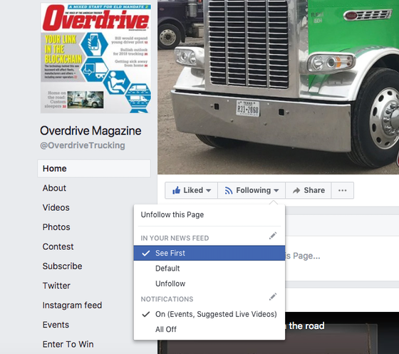 How to keep seeing Overdrive on Facebook after news feed change