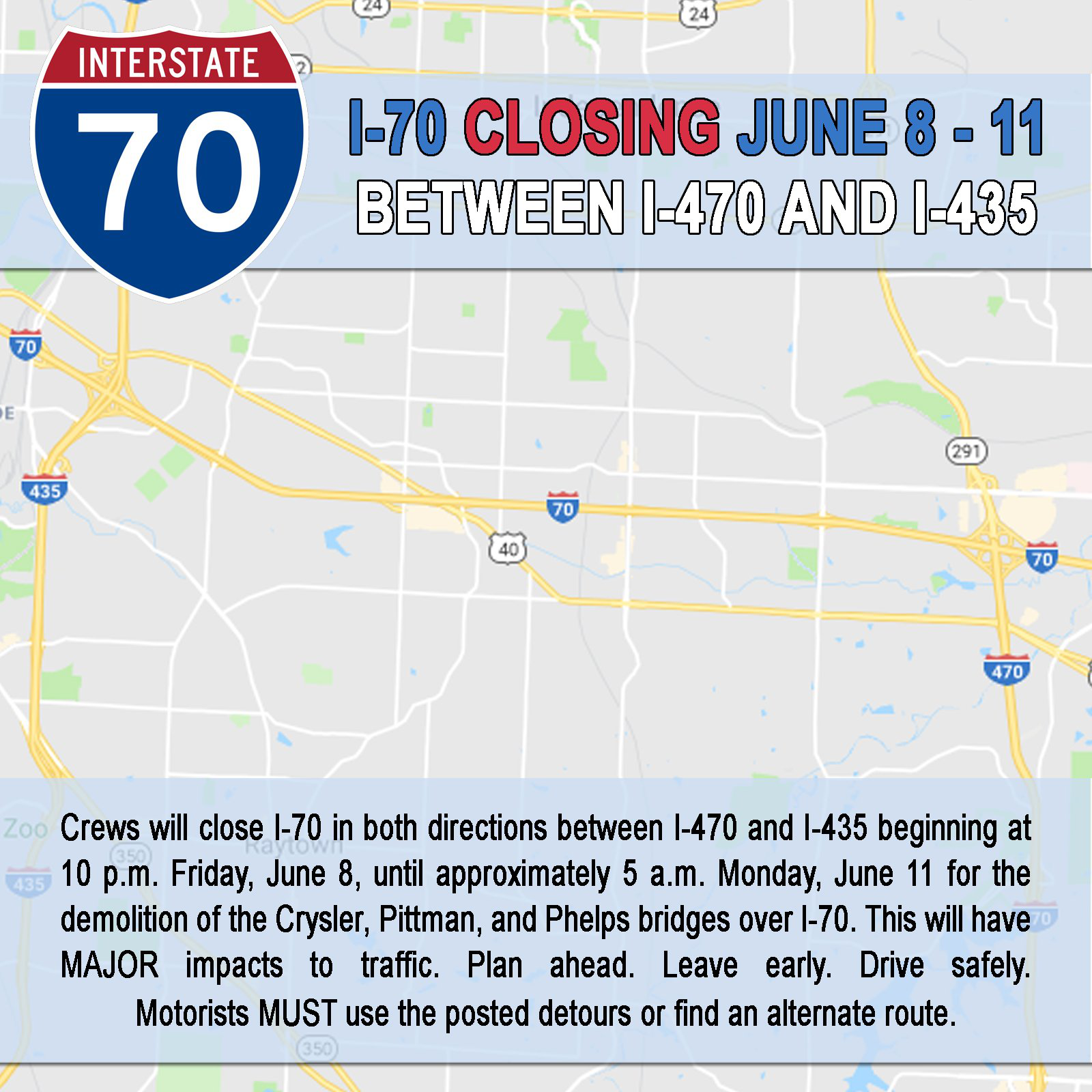 Truckers Plan For Detours On Parts Of Kansas City's I-70