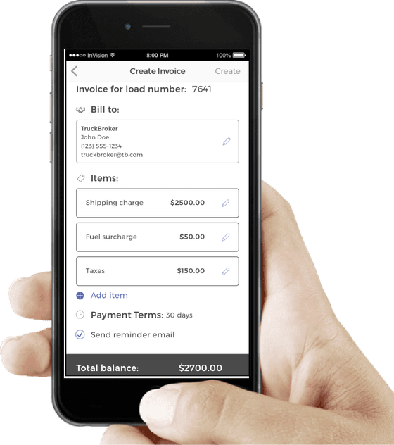 Smartphone Apps - Invoice app for android phone