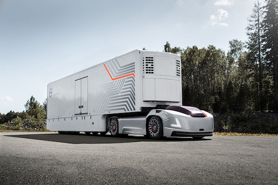 Tractor Trailer Driveline : Volvo in process of developing self driving electric vehicle