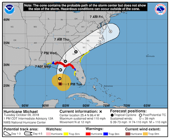 Hurricane michael leads to fmcsa suspending regs in 8 states for Motor carrier compliance florida