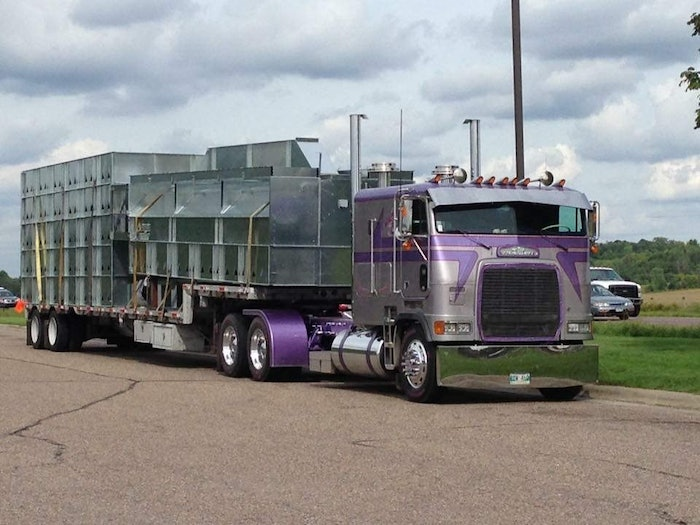 Hauling a grain dryer from Minnesota to western Canada