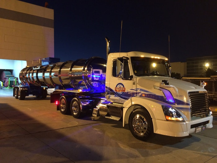 'Jeremy's Arrowhead 2012 Volvo Daycab & Brenner Stainless Polished Tanker