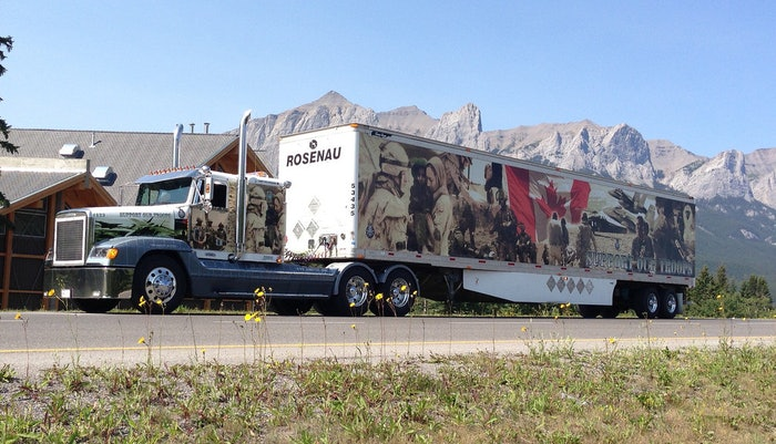 The Rosenau Support our Troops Big Rig
