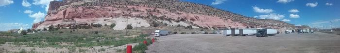 O.T.R hauling dry goods coast to coast
