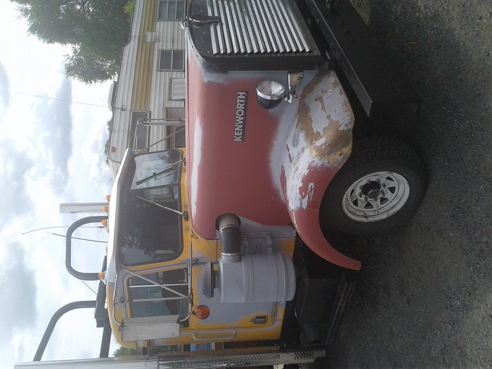 Ok this was a 75 chv pick up tell I put the KW truck cab and hood on it