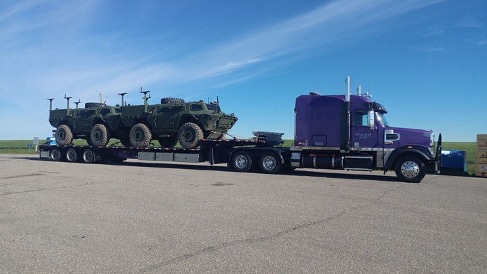 Barney hauling militarily