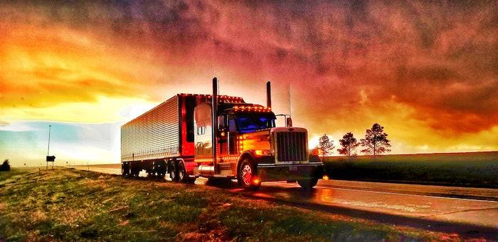 Beautiful sunset on the border of Nebraska ans Wyoming