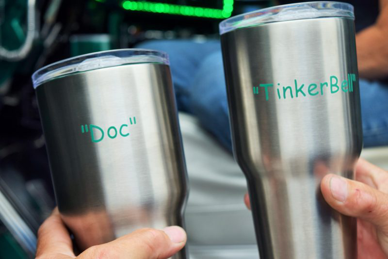 Doc and Tinker Bell coffee mugs