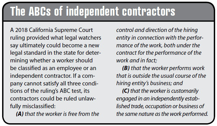 The California independent contractor crisis: Undermining