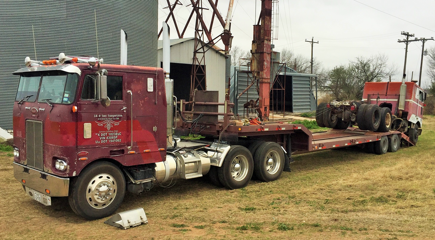 Zach Beadle's 'donor' cabover Peterbilt — a 1976 model only
