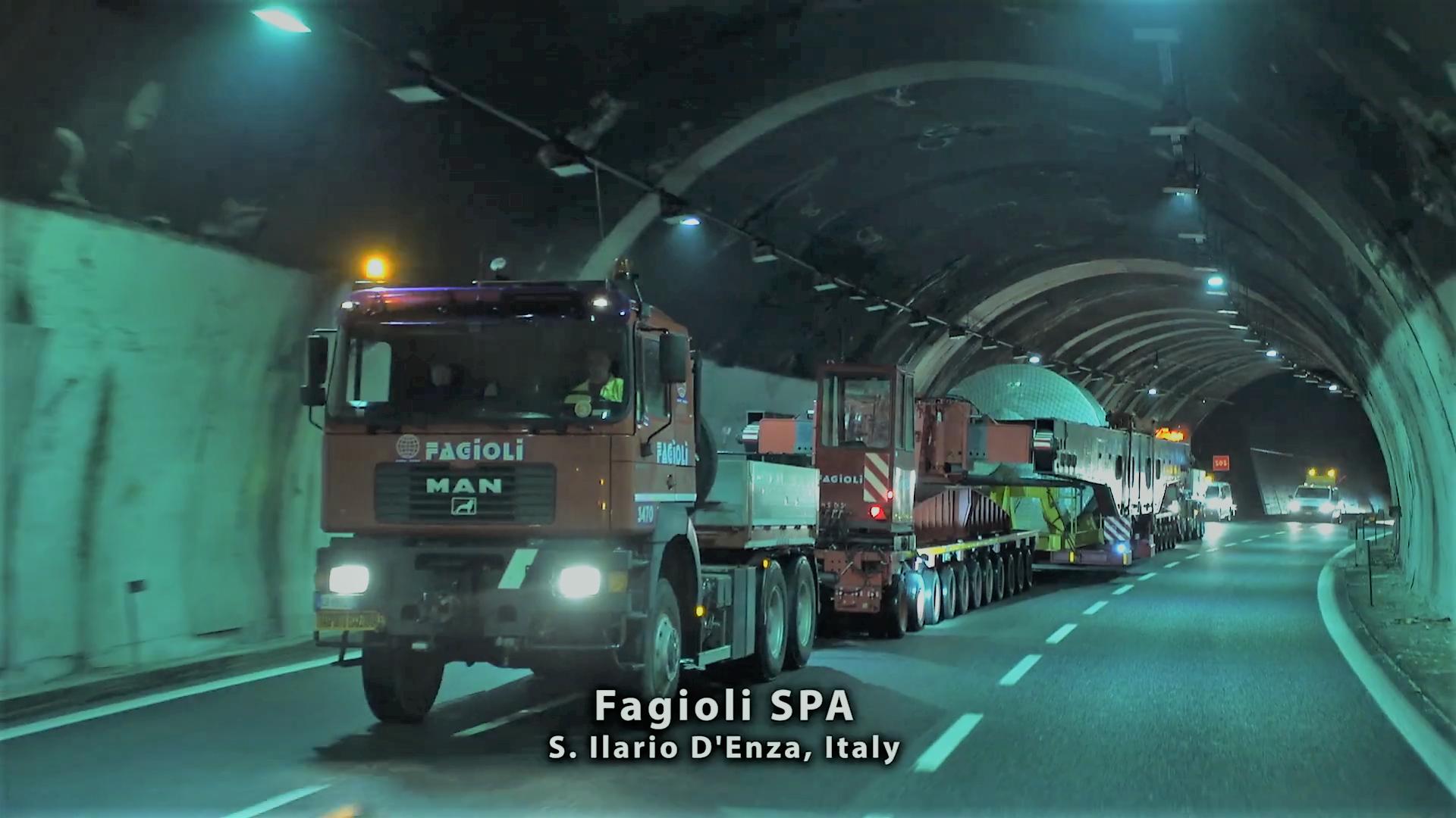 Fagioli SPA transporting rotors in tunnel