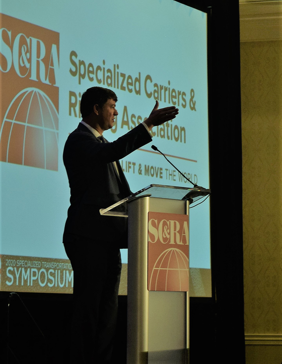 FMCSA Acting Administrator Jim Mullen speaks at 2020 specialized transportation symposium