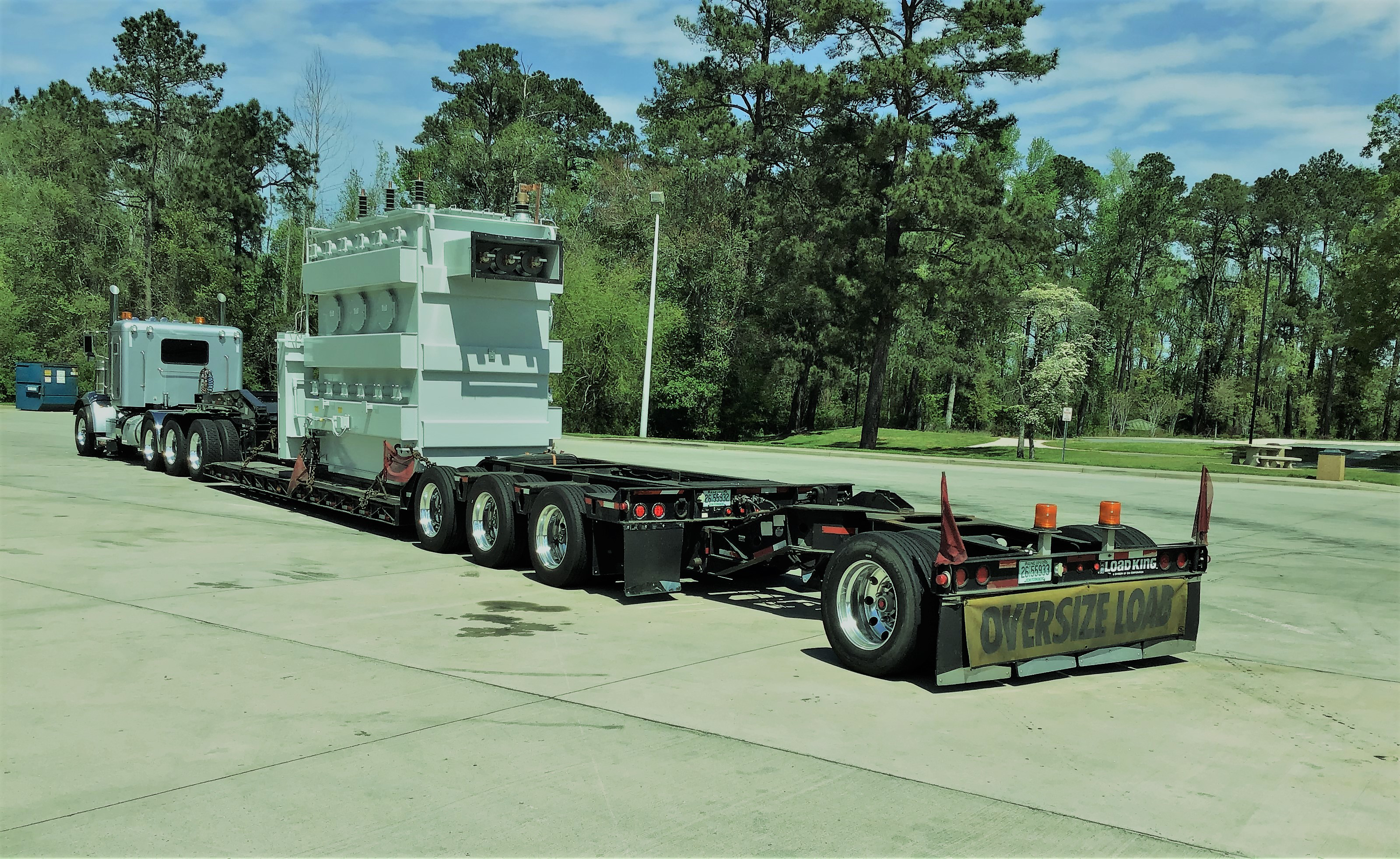 Bruce Arnold's semi truck carrying oversize load