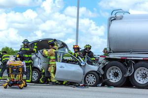 tanker truck rear end crash
