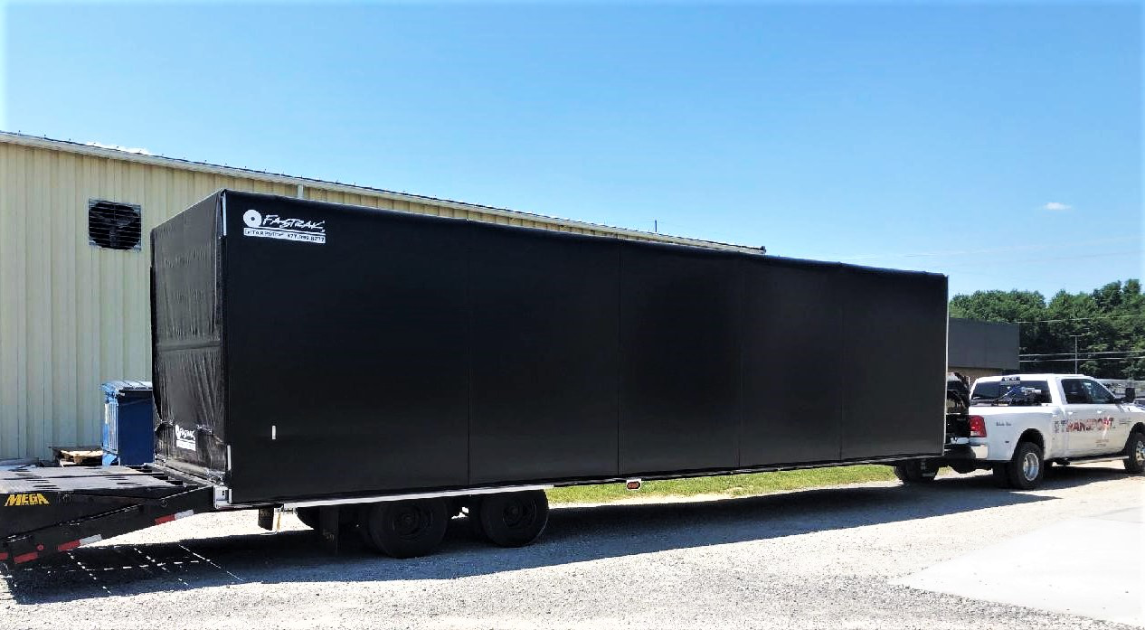 S2 Transport 2020 Big Tex flatbed trailer pulled by a 2018 ram 3500 truck
