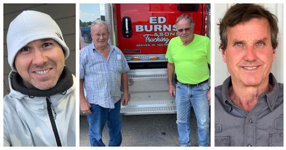 James Davis, Mike and Terry Burns, and John McGee