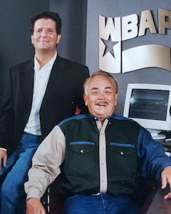 Eric Harley with Bill Mack at WBAP