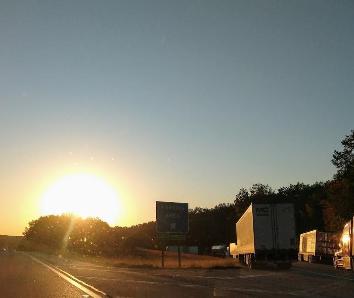 sunrise-on-truck-parking-area-2020-10-30-13-34