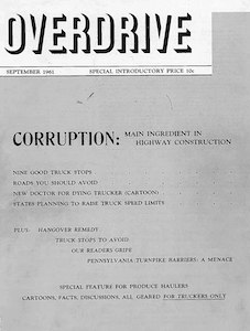 overdrive magazine cover from september 1961 issue