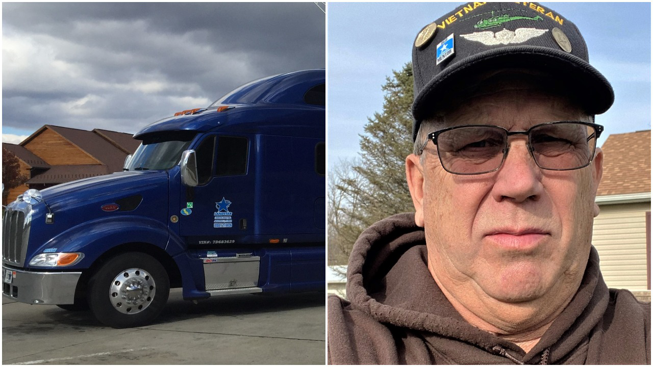 2007 Peterbilt 387 and owner-operator Robert Boyle