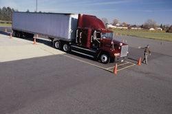parked semi truck