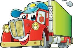 'Hello, I'm a Truck' graphic