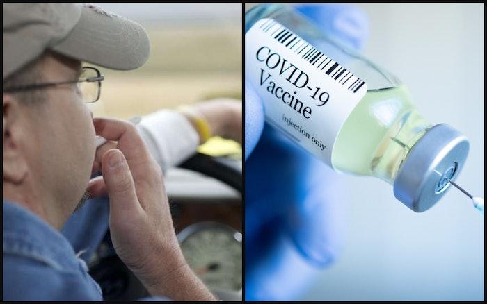 covid vaccine and trucker