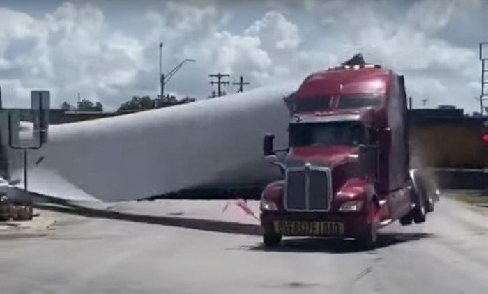 truck wind turbine crash luling texas