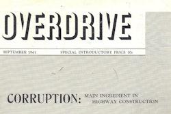 overdrive september 1961 issue cover
