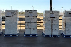 More than 1,200 pounds of alleged methamphetamine was found inside a trailer.